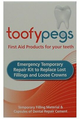TOOFYPEGS Dental Repair Kit to Replace Lost Fillings & Loose Crowns