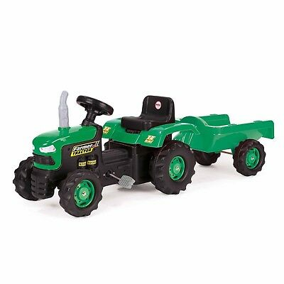 Kids Pedal Tractor Dolu Children OPERATED Outdoor Ride on Toy with Trailer