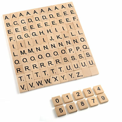 New Wooden Scrabble tiles Scrapbooking Handcraft Wedding Letter Alphabet Numbers
