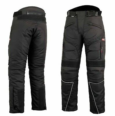 Motorbike Motorcycle Cordura Textile Trousers Pants CE Approved Armours Black