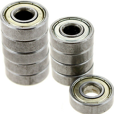 Ball Roller Skateboard Scooter Blade Bearings Wheels Silver ABEC-5 608ZZ 10 pcs