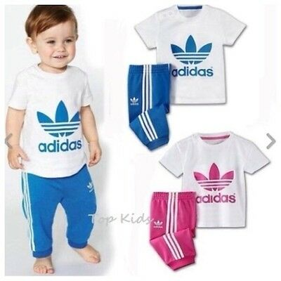 New Baby Boys Girls Shortsleeved Cotton Sports Tracksuits size 0.1.2.3.4.5.6yrs