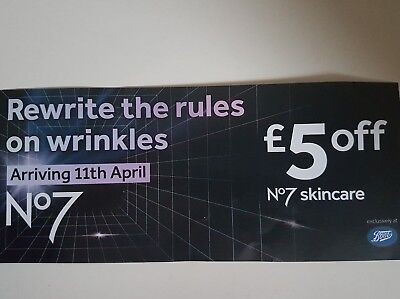 Boots No 7 Skincare Rewrite The Rules On Wrinkles £5 Voucher Valid 11/4 - 15/4