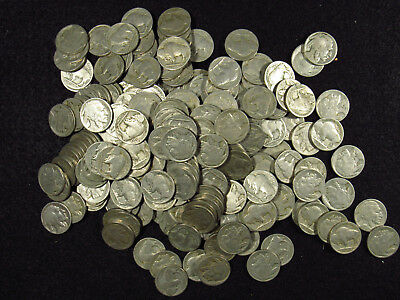 MIXED PARTIAL DATE Buffalo Nickels 40 COIN ROLLS PROBLEM FREE