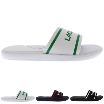 34c5b140b0e292 Mens Lacoste L.30 118 2 Slides Casual Flat Beach Holiday Sport Sandals All  Sizes
