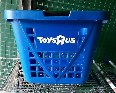 Plastic Rolling Shopping Trolley Basket On Wheels for Shops & Supermarkets