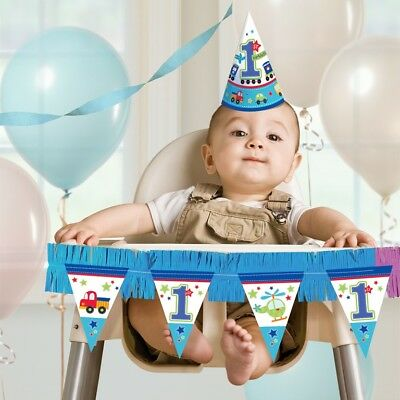 New All Aboard Birthday High Chair Decorating Kits