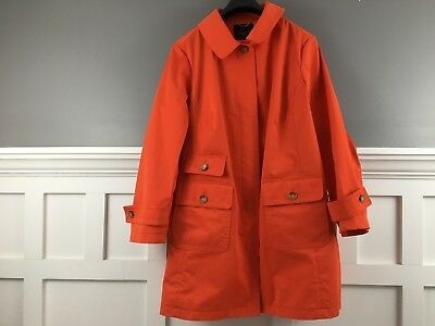 Talbots 22W Red Tomato Women's Trench Coat