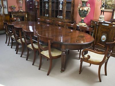 """Antique 12ft 6"""" Victorian Dining Table & 12 Chairs 19th Century"""