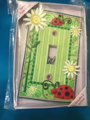 NEW Christine Miller ~ Swirly Girl ~THREE CHEERS ~ SMILEY-BUG SWITCH PLATE COVER