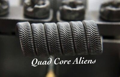 2x N80 6 Wrap Quad-Core Alien Coils + Free Coils! (Nichrome 80, Staple Killer)