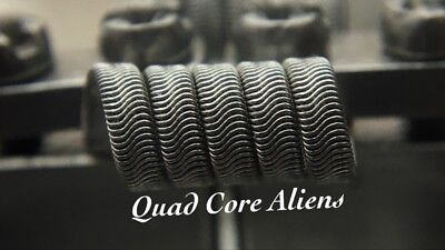 2x N80 5 Wrap Quad-Core Alien Coils + Free Coils! (Nichrome 80, Staple Killer)