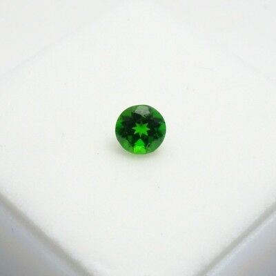 Round Russian Chrome Diopside 0.45ct+ 5mm Round - Chrome Diopside Loose Gemstone