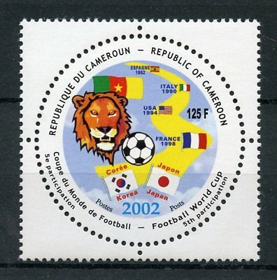 Cameroon Cameroun 2002 MNH World Cup Football 1v Set Soccer VERY RARE Stamps