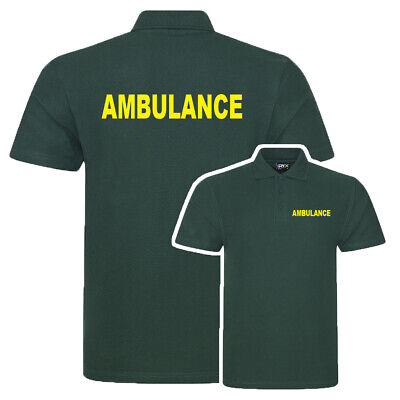 Ambulance Bottle Green Poloshirt, Workwear, Medical, First Aid, Event Club S-7Xl