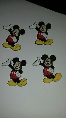 4 x Jibbitz Shoe charms for crocs Mickey mouse