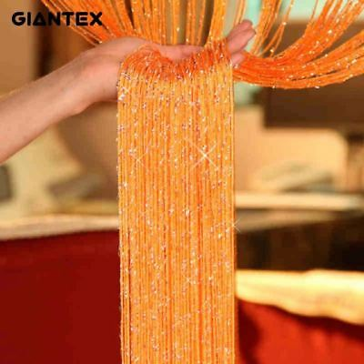 Shiny Tassel Flash Line String Curtain Divider Sheer Curtain 0.95x1.95m