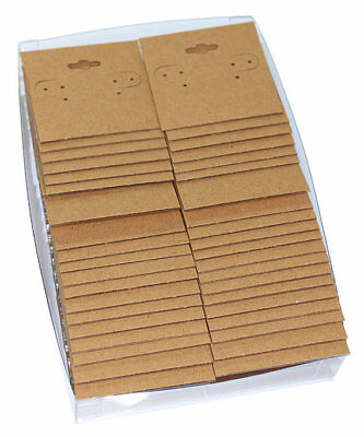 "Hanging Earring Card Kraft Paper Covered 2"" ""PLAIN"" (Pkg of 100) (DER751)"