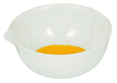 """175mL capacity, Round Evaporating Dish with Spout  - Porcelain - 4.1"""" Outer"""