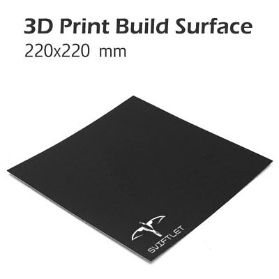 3D printer Build platform surface plate sheet replaces Kapton Tape 220 x 220mm