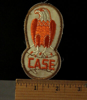 "VINTAGE CASE TRACTOR  EAGLE PATCH -  - Sew-on 3.75""x2"""