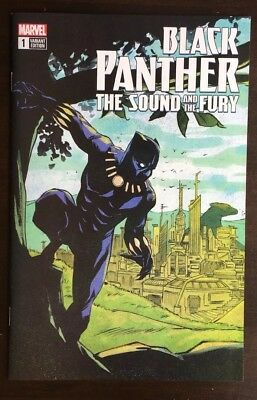 Black Panther The Sound and The Fury #1 Sanford Greene Variant NM 9.4