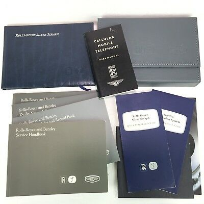 1999-2002 Rolls Royce Silver Seraph Owners Manuals Set Complete Oem Park Ward