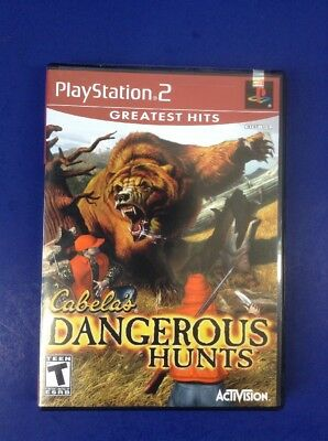 Cabela's Dangerous Hunts Sony Playstation 2, PS2 Greatest Hits Manual Booklet