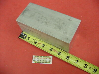 "2-3/4"" X 2-3/4"" ALUMINUM 6061 SQUARE SOLID BAR 6"" long T6511 Flat Mill Stock"