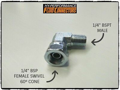 1/4 Bsp Male/female Swivel 90 Degree Elbow Zinc Steel Hydraulic Fitting