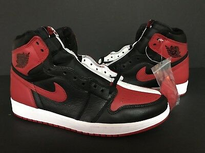 NEW 2018 Air Jordan Retro 1 OG High Homage To Home NON NUMBERED Black/White/Red