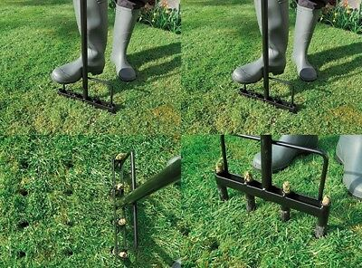4 Prong Hollow Line Garden Gardening Lawn Aerator tine For Plant Growth