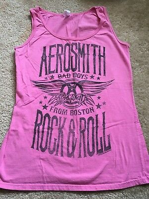 2012 Aerosmith Bad Boys From Boston pink tank top Women's Size Medium RARE
