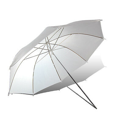 "2x 33"" Soft White Umbrella Translucent Diffuser For Photo Studio Lighting Stand"