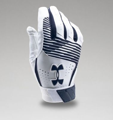 Under Armour Men's UA Clean Up Baseball Batting Gloves 1299530-410 MDN/WHT/MDN