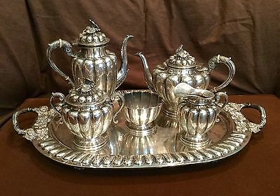 Vintage Sanborns Sterling Silver Coffee/Tea Service From Mexico 6 Pcs.