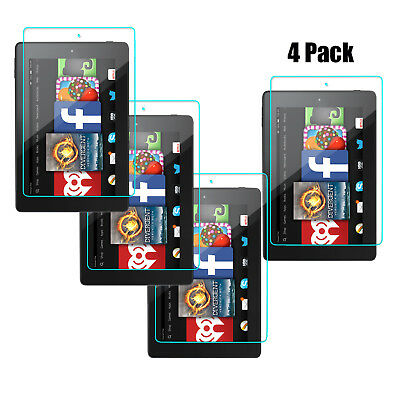 4-Pack Tempered Glass Screen Protector For Amazon 2017 Kindle Fire 7 7th Gen