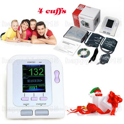 Digital Blood Pressure Arm Monitor Cuff Bp Machine Upper Portable Tool+4 cuffs
