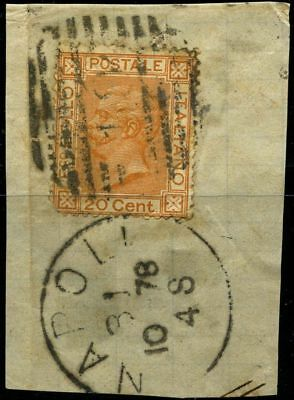 Italy 1877 stamps definitive USED Sas 28 CV $5.50 180420059