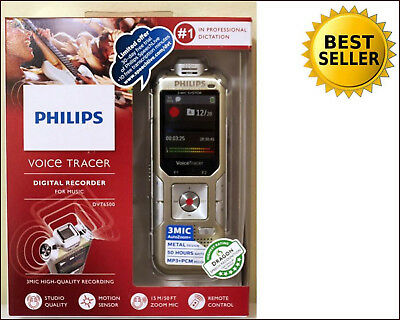 NEW Philips DVT6500 Voice Tracer with 3Mic Recording 4Gb Color 100% RATED SELLER
