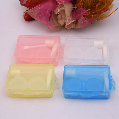 Contact Lens Box Case Eyes Care Travel Storage Transparent Simple Container Gift