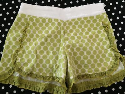 Persnickety Green Spotty Shorts Sz 5
