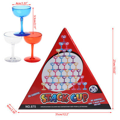 36Pcs/Set Speed Stacking Cups Race Rapid Toy Balance Board Game Kids Gift Funny