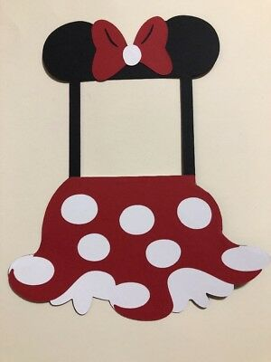 Minnie Mouse Die cut Frame Scrapbooking, Paper Piecing Handmade Card Stock