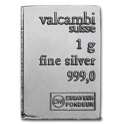 Valcambi Suisse 1 gram .999 silver bullion investment-bars!