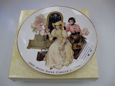 Avon Rose Circle 2005 Award Commemorative Plate, edged in 22k Gold