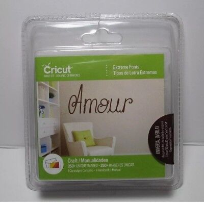 Cricut 2003588 Cricut Extreme Fonts Cartridge Free Shipping New Sealed