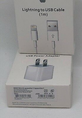 OEM Wall Adapter Charger 5W n Lightning USB Cable for Apple iPhone X 8 7 6S Plus