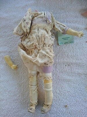 "19 1/2"" Armand Marseille 1894 Antique Porcelain Doll - Damaged"