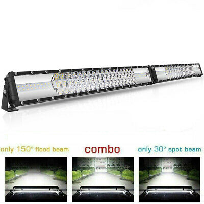 42Inch 3360W 3-Rows LED Work Light Bar Spot Flood Combo Offroad Fog Lamp SUV ATV